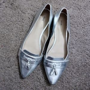 Sole Society Silver Flats